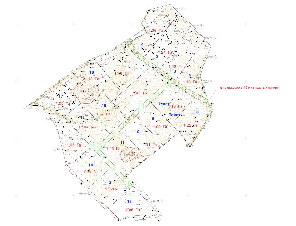 карта фермерского поселка