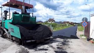 асфальтирование дорог в коттеджном поселке Солнечное